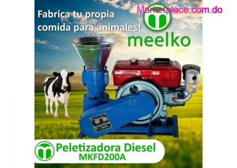 Peletizadora MKFD200A pellets comida animal