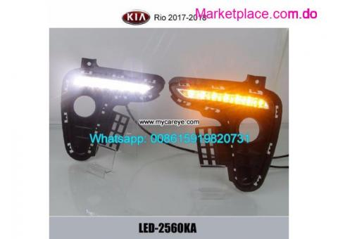 Kia Rio LED DRL day time running lights